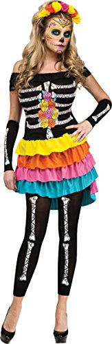 Morris Costumes Day Of The Dead Adlt Small-Med