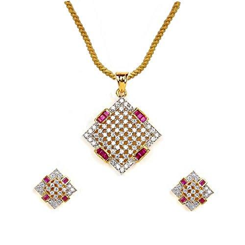 Sheetal Jewellery Brass & Alloy Pendant Set For Women - B00TIH01ZK