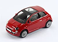 New Burago 1/43 Diecast Model Car - Fiat 500 3dr in Red - Burago 'Street Fire' Range
