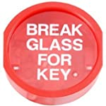 BREAK GLASS KEY BOX WITH PLASTIC PRIN...