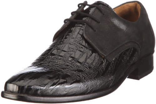 Manz Bazzano Shoes Men black Schwarz/schwarz Size: 46 2/3