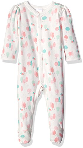 Gymboree Girls' Printed Footie Romper, Jet Ivory, 0-3 mo.