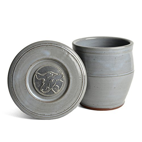 oregon-stoneware-studio-cow-french-butter-crock-slate-by-oregon-stoneware-studio