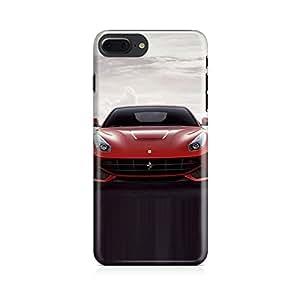 Motivatebox - Apple Iphone 7 plusBack Cover - Red Ferrari Polycarbonate 3D Hard case protective back cover. Premium Quality designer Printed 3D Matte finish hard case back cover.
