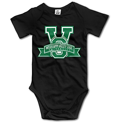 WG T Shirts Mississippi Valley State University MVSU Delta Devils Boys & Girls Short Sleeve Romper Playsuit Size 6 M Black (Delta Rice Cooker compare prices)