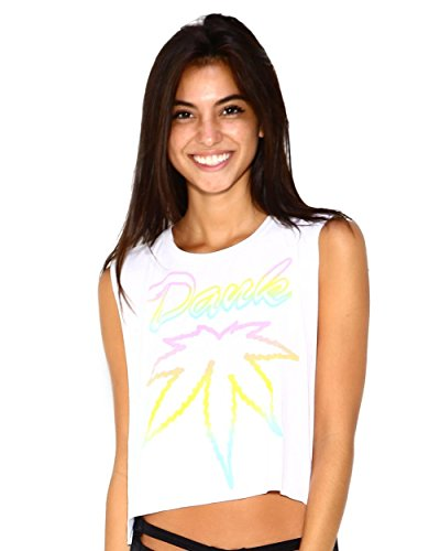 iHeartRaves Dank Weed Muscle Tee Rave Tank Top (Small)