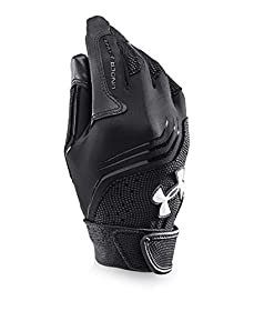 Under Armour Boys' UA Clean Up Batting Gloves Youth Small Black