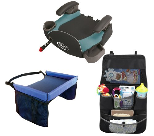 Graco Affix Backless Booster Seat With Latch System & Snack Tray And Backseat Organizer, Sailor front-906515