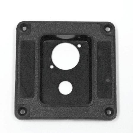 Abs Dish For One 1/4Inch And One Speakon Or Xlr Jack - 3 1/3Inch X 3 1/3Inch-2Pack