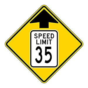MUTCD W3-5 Speed Limit 35 Reduced Speed Limit Sign, 3M Reflective Sheeting, Highest Gauge Aluminum,Laminated, UV Protected, Made in U.S.A