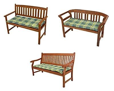 Bankauflage grün-kariert in verschiedenen Größen von Benelando® - Gartenmöbel von Du und Dein Garten