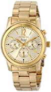 Invicta Womens 12551 Angel Analog Display Swiss Quartz Gold Watch