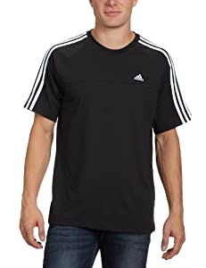adidas Herren T-Shirt Essentials 3 Stripes Tee, Black/Wht, XXL, X13531