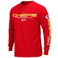 NFL Kansas City Chiefs Primary Receiver III Long Sleeve T-Shirt - Red by Nutmeg