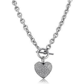 MMC One Carat Six Claws Cubic Zirconia Silver Pendants Necklaces