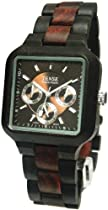 Tense Mens Multi-Eye Dark/Light Sandalwood Wood Watch B7305DS DF