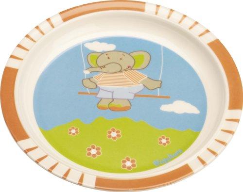 playshoes 4010952309973 baby teller set 5 teilig aus melamin mit tollem elefantenmotiv. Black Bedroom Furniture Sets. Home Design Ideas