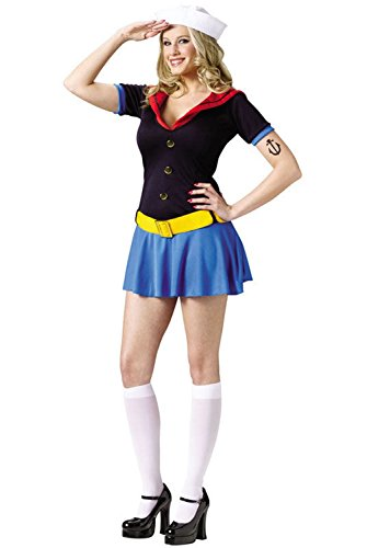 [Mememall Fashion Sexy Ms. Popeye The Sailor Adult Halloween Costume] (Ms Voorhees Costume)