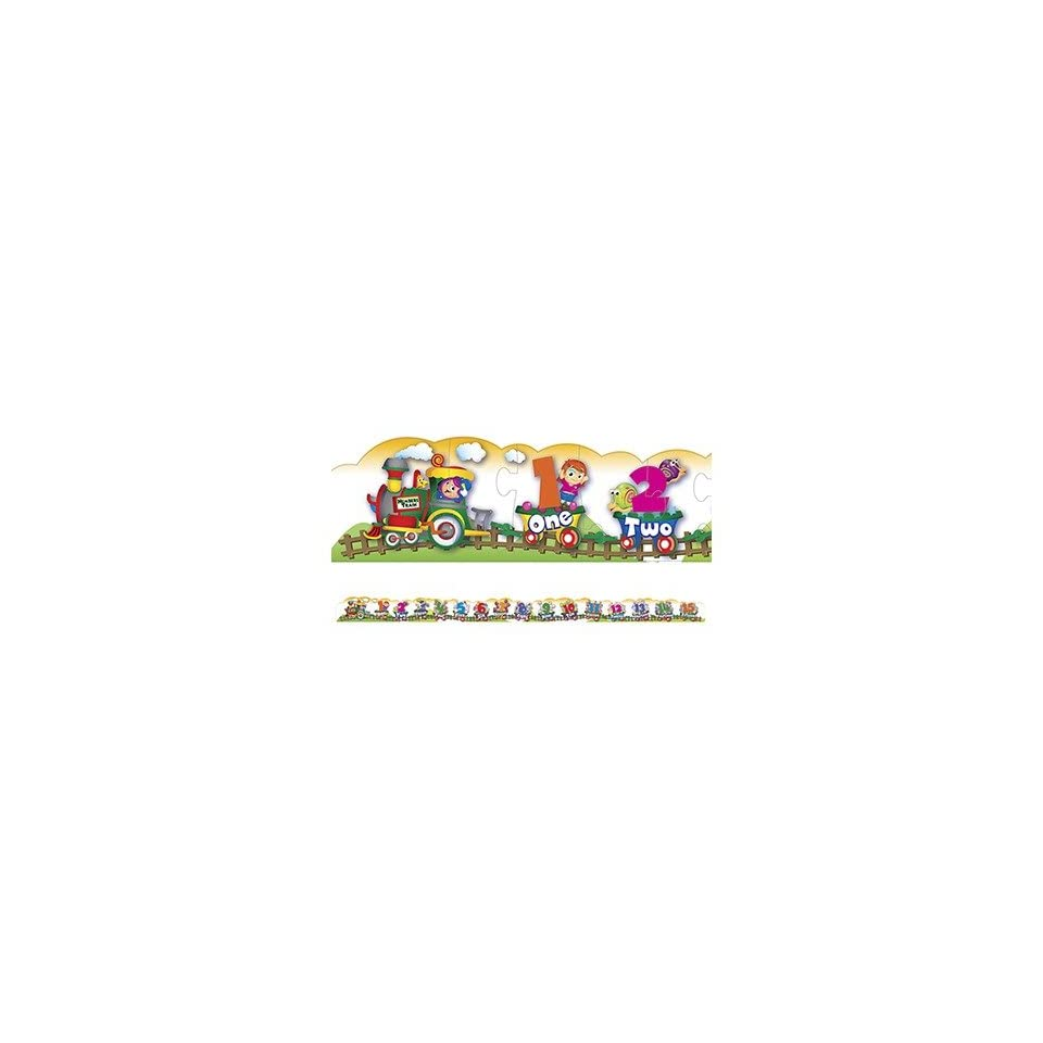 SCBCK 95172 5   NUMBER TRAIN FLOOR PUZZLE pack of 5