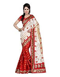 Devi Silk Mills Women's Georgette Saree (DS11682_S3_Z2_Beige)