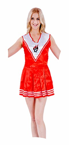 JUNPAI Women's Role Costume Cheerleader Red Dress Including Dress,Wristband