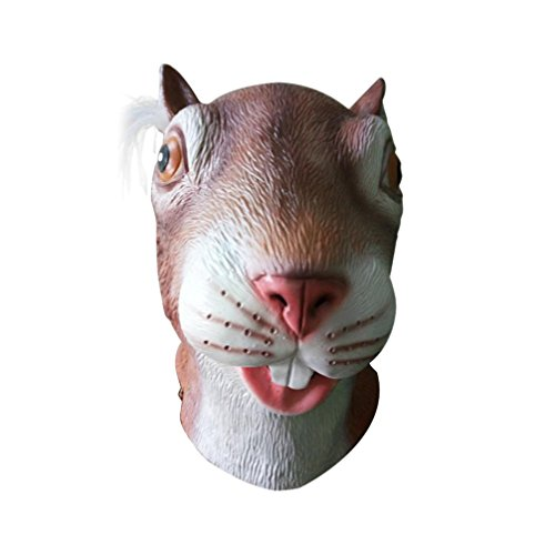 [Koolee Nature Latex Halloween Full Mask, Halloween Costume Animal Head Mask] (Diy Star Wars Dog Costumes)