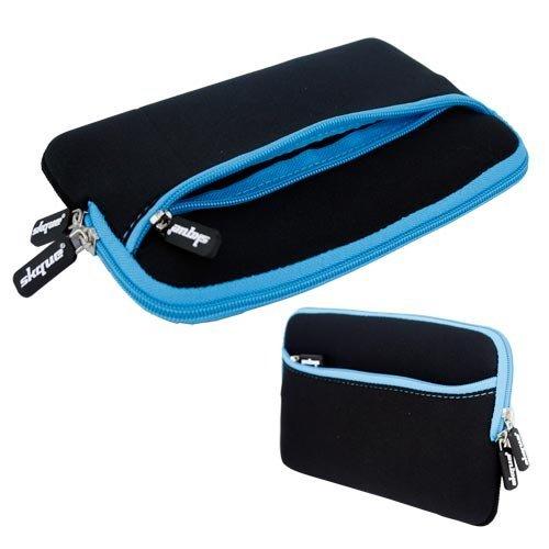Skque 13.3 Zoll Laptop Glove Tasche Case Blau (außen Schwarz, Innen Blau, Reißverschluss Blau)