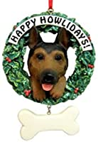 German Shepherd Happy Howlidays Ornaments [48874-D] from CD&G