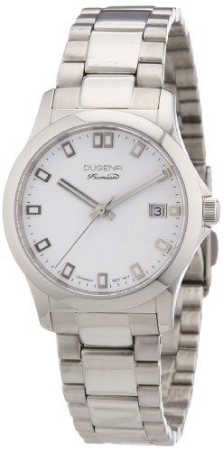 Dugena Dugena Premium 7000100 - Reloj analógico de cuarzo para mujer, correa de acero inoxidable color plateado