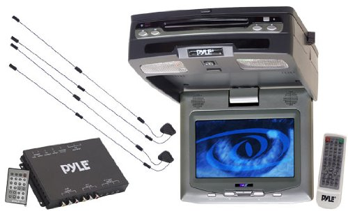 Pyle Plrt-Vd9 8-Inch Wide Screen Roof-Mount Lcd Monitor With Built-In Dvd Player And Tv Tuner