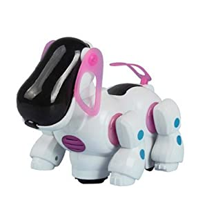Win8Fong New Robotic Lovely Electronic Walking Pet Dog Puppy Kids Toy With Music Light Pink