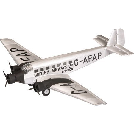junkers-ju-52-diecast-model-british-airways-london-gatwick-airport-england-1936-172-scale-by-corgi