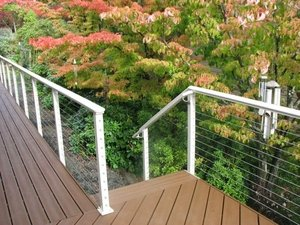 POST TO POST HANDRAIL: For Cable Railing
