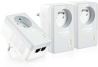 TP-LINK TL-PA4025PTKIT 500 Mbps Pack de 3 Adaptateurs CPL (2 Ports Ethernet, Prise Intégrée)