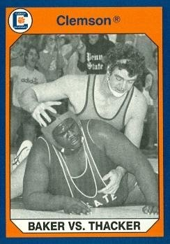 Duane Baker vs. Tab Thacker Wrestling Card (Clemson) 1990 Collegiate Collection #159