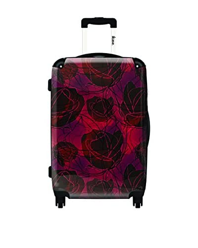 Ikase Red Roses Rolling Luggage, Multi, 10X16X24