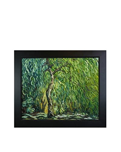 Claude Monet's Weeping Willow Framed Hand Painted Oil On Canvas, Multi, 20.75 x 24.75