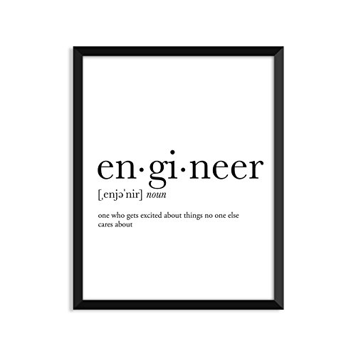 Engineer definition - L, college dorm room decor, dorm wall art, dictionary art print, office decor, minimalist poster, funny definition print, definition poster, inspirational quotes (Engineer Wall Art compare prices)