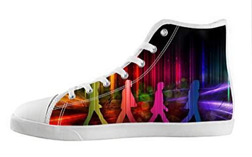 Men's High Top Lace-up Casual Canvas Shoes Rock Band The Beatles DIY Fashion Sneaker