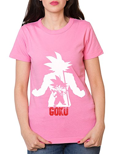 Over-Goku-Camiseta-de-mujer-Goku-Dragon-Master-Son-Ball-Vegeta-Turtle-Roshi-Db-Farbe2RosaGre2S