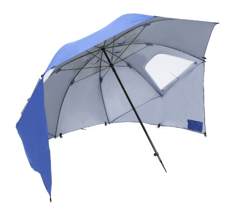 Sport-Brella Beach Umbrella - Portable sun and weather shelter and family beach tent with carry bag