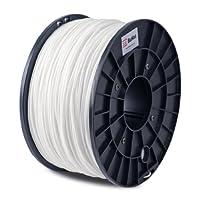 BuMat PLAWH Filament 1.75mm 1kg 2.2lb Printing Material Supply Spool for 3D Printer, White by Sans Digital