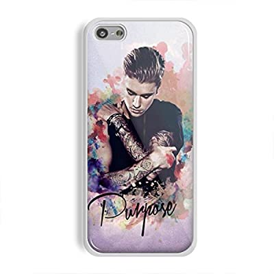 justin bieber purpose in watercolor for iPhone 5/5s White case