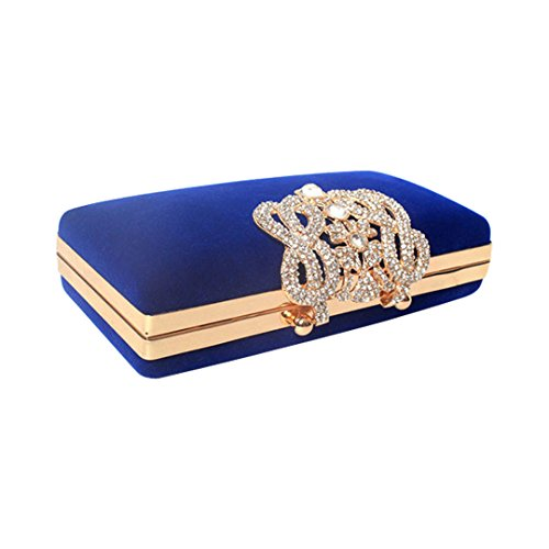 Marca west Womens Evening Cocktail Wedding Party Handbag Clutch Purse Wallet Decorative drill