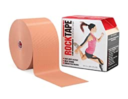 RockTape Active-Recovery Kinesiology Tape for Atheltes (Beige, 4-Inch x 105-Feet)