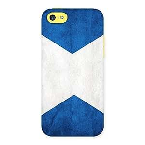 Ajay Enterprises X BLUE WHITE Back Case Cover for iPhone 5C