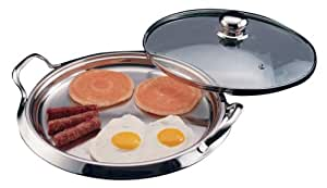 Chef's Secret 5-Ply Stainless-Steel Griddle with Glass Lid