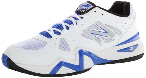 New Balance Men'S Mc1296 Stability Tennis Running Shoe,White/Blue,9.5 2E Us