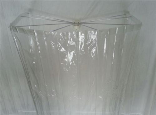 """Kleine Wolke 0382000000 Aufhängevorrichtung und Duschvorhang Artikel """"Spider"""" DV-Set mit DV, glasklar"""