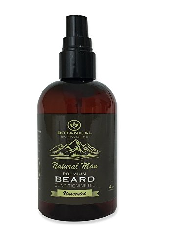 Natural Man Premium Unscented Beard Oil with Emu and Argan Oils - All Natural Beard Conditioner by Botanical Skinworks, 4 Ounce (Omega Shine Hair Elixir compare prices)